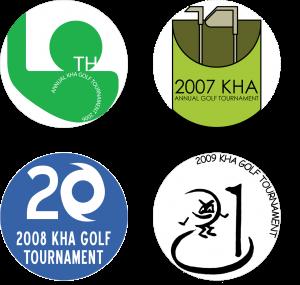 KHA golf logos